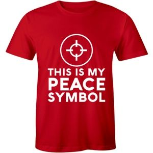This Is My Peace Symbol Gun Rights Hunting T-shirt
